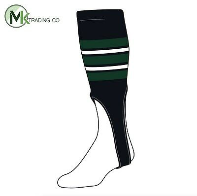 "TCK® X-Large, 700F, 8"" - Black–Dark Green–White - MLB® Baseball Stirrups"