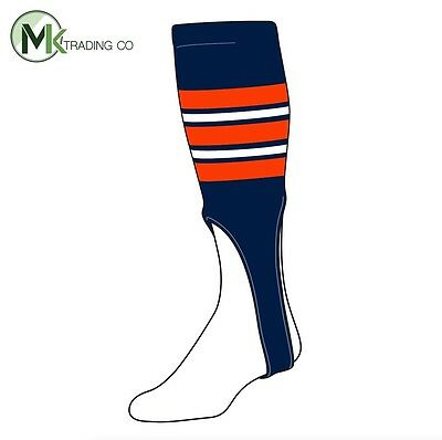 "TCK® X-Large, 700F, 9"" - Navy Blue–Orange–White - MLB® Baseball Stirrups"