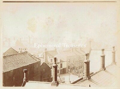 Rooftop Panorama, Scarborough Yorkshire. Superb c.1900 Photograph (2)