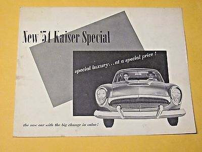 1954 Kaiser Special (Usa) Sales Brochure..