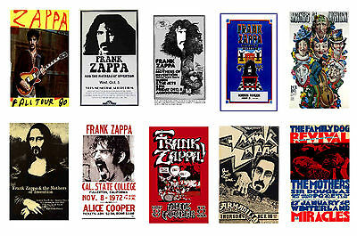 Frank Zappa - Set Of 10 Mixed Promo Poster Postcards # 1