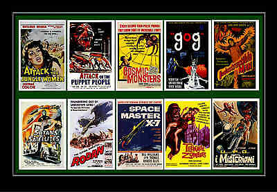 1950's SCIENCE FICTION & B-MOVIES - MOVIE POSTER POSTCARDS SET 7