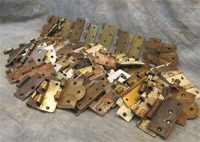Lot Assorted Metal Hinge Parts Architectural Salvage Reclaimed Hardware a