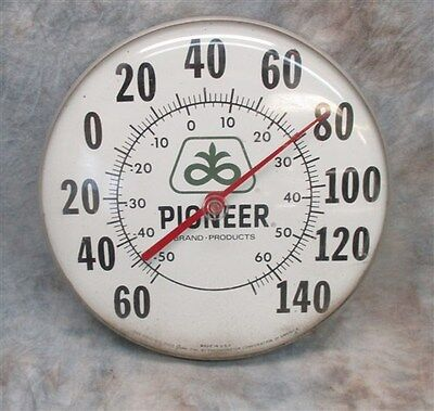 Pioneer Brand Thermometer Seed Corn Sign Vintage Advertising Outside Display