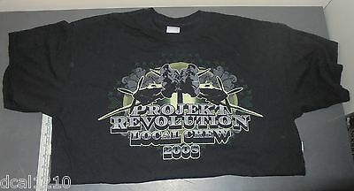 2008 Linkin Park Projekt Revolution Concert Tour Crew Shirt XL