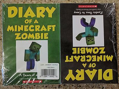 NEW Diary of a Minecraft Zombie Series Book Set 1-9  Paperback Sealed w/ Barcode
