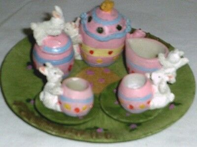 New Easter Themed Mini Tea Set Barbie Miniature Playset