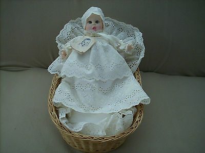 """Vintage """"Gerber"""" Baby Doll - Complete with Basket, Bedding & Clothing"""