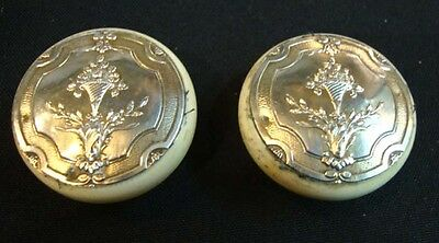 Antique Pair Of French Sterling Silver Pill Box