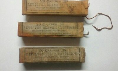 Lot of three Frankford Arsenal 20 count caliber .38 Revolver Blank Cartidges in