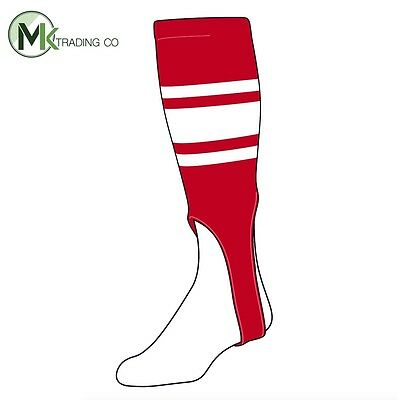 "TCK® X-Large, 700C, 7"" - Scarlet Red–White - MLB® Baseball Stirrups"