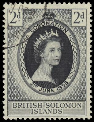 SOLOMON ISLANDS 88 (SG81) - Queen Elizabeth II Coronation (pa63996)