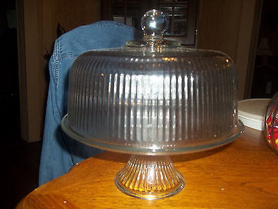 Anchor Hocking Two piece cake dome/punch bowl