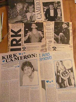 Kirk Cameron, Lot of Clippings, THIRTY Pages