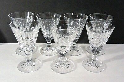 Waterford Crystal 7 Tramore Sherry Goblets Glasses