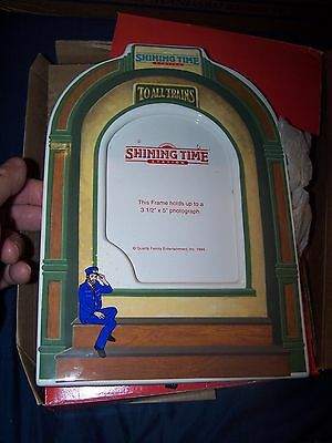 Shining Time Station Picture Frame in Box Mr. Conductor Vintage Thomas Tank Engi