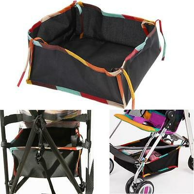 Baby Stroller Pram Pushchair Bottom Basket Diaper Hanging Organizer Storage Bag
