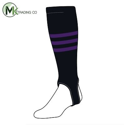 "TCK® X-Large, 700B, 4"" - Black–Purple - MLB® Baseball Stirrups"