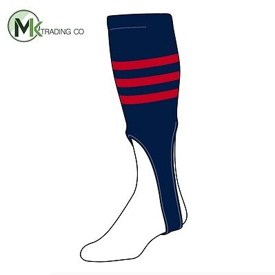"TCK® X-Large, 700B, 8"" - Navy Blue–Scarlet Red - MLB® Baseball Stirrups"