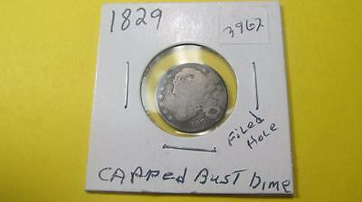 1829 US Silver Capped Bust Dime Ungraded Bullion Circulated Item3962