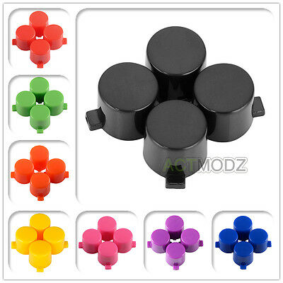 Solid Chrome Color Action Buttons Triangle Square Circle X for PS4 Controller