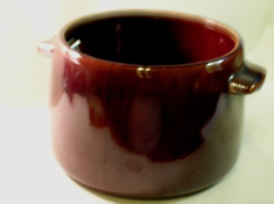 "Bowl 7"" Stoneware Pottery Westbend Bend Brown Pot 4-1/2"" Tall"