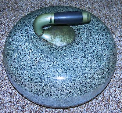 Antique Olympic SCOTTISH GRANITE Curling Rock or Stone EXCELLENT!  Rock #1