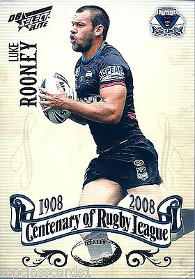 2008 Centenary Of Rugby League Common Luke Rooney Card No.172