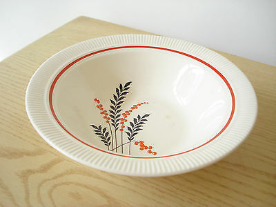 Vintage Salem China Victory PARKWAY Round Serving Bowl Black Red Wheat Design