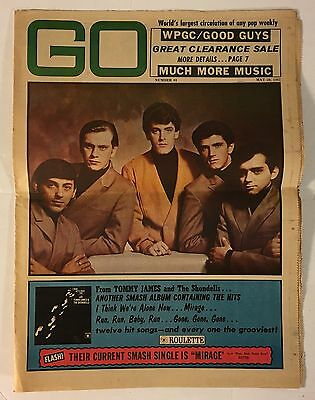 GO Pop Weekly Newspaper Magazine #61 May 26, 1967 Tommy James And The Shondells