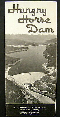 Travel Brochure 1958 Hungry Horse Dam US Dept of the Interior