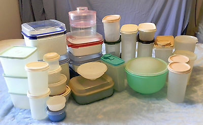 Tupperware Lot 3 Of 32 Assorted Pieces  From 60-80S  Atup-3