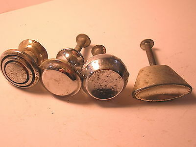 Crome Dicast Vintage Knobs Handles 4 Each Mixed Type