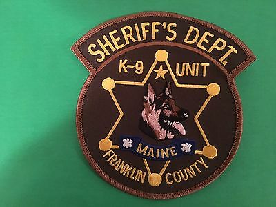 Franklin County Maine Sheriff K-9 Unit  Patch