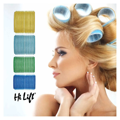 Hi Lift Self-Gripping & Self-Spring Hair Rollers 6 Units - Choose Size