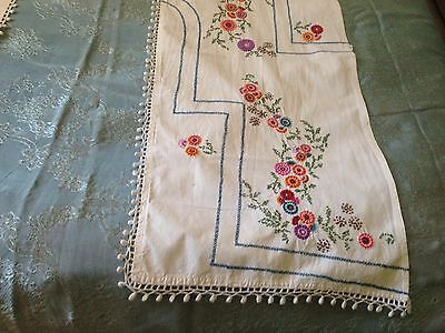 Beautiful Vintage Hand-Embroidered Curtain