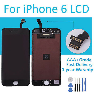 """1X iPhone 6 4.7"""" Screen Replacement LCD Digitizer Touch Display Assembly Black"""