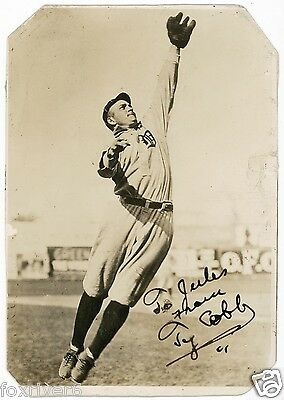 TY COBB Signed Photograph - former US Baseball Player Detroit Tigers - Preprint