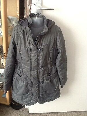 Lovely Marks And Spencer Hooded Coat Age 7-8 Years