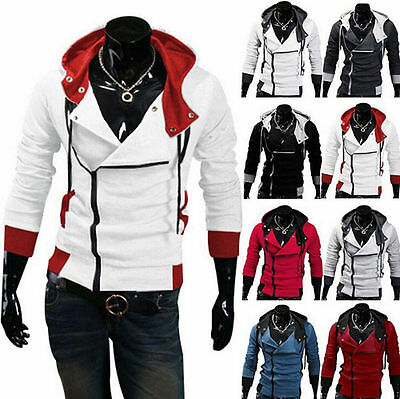 Stylish Creed Hoodie Cool Slim men's Cosplay For Jacket Costume Zipper Coats New