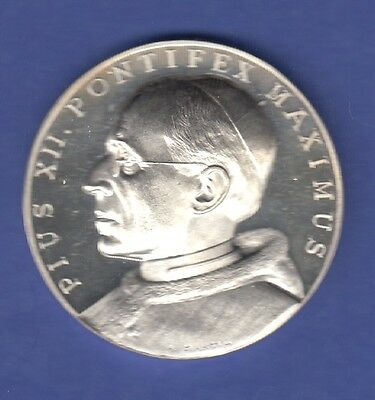 Papst Pius XII. 1958, edle Silbermedaille PP, 25g Ag925