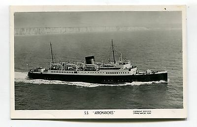 SS Arromanches - English Channel ferry, aerial view - Skyfotos  postcard