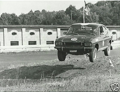Ford Capri MK1 MKI Trofeo Ford Rallycross (?) Off the Ground Photograph