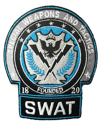 Batman the Dark Night - Police SWAT Blau logo Uniform patch Aufnäher
