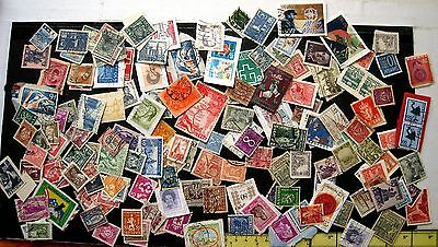 Collection Of World Stamps Mint & Used. Unsorted Mixture