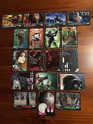 Star Wars - Rogue One (TOPPS collector cards) 18 x Cards Bulk Mixed Lot