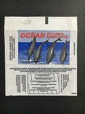DANDY TRADING CARD WRAPPER OCEAN PICTURES & GUM  FROM 1970's