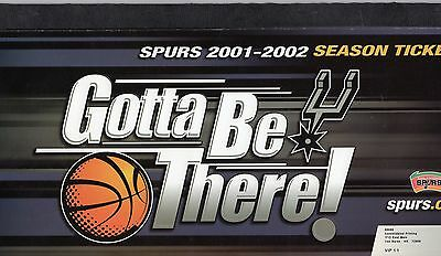 SPURS  (SAN ANTONIO) -  2001/02 UNUSED SEASON TICKET BOOK - great item.
