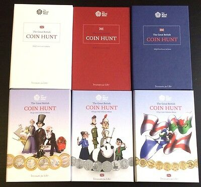 Brand new Coin Hunt £1 £2 50p collector Albums Royal Mint Select RARE ROYAL MINT