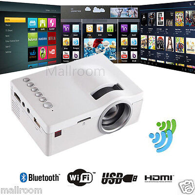 HD LED Beamer 1080P HDMI Mini Heimkino Projektor Cinema 1080P VGA/USB/AV/weiß